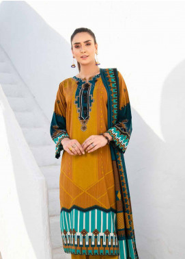 Ittehad Textiles Printed Linen Unstitched 3 Piece Suit ITD20LN 4601A - Winter Collection