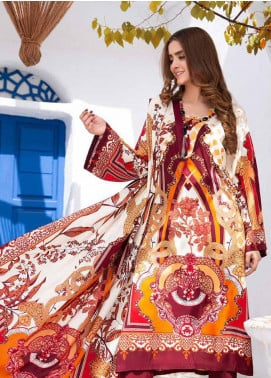 Ittehad Textiles Printed Linen Unstitched 3 Piece Suit ITD20LN 4608A - Winter Collection