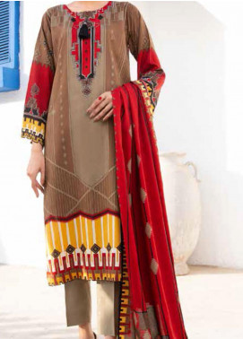 Ittehad Textiles Printed Linen Unstitched 3 Piece Suit ITD20LN 4610B - Winter Collection