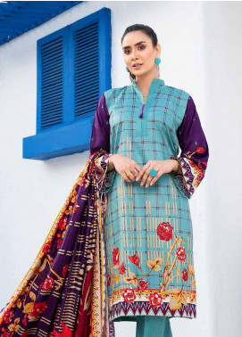 Ittehad Textiles Printed Linen Unstitched 3 Piece Suit ITD20LN 4615A - Winter Collection