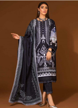 Ittehad Textiles Embroidered Linen Unstitched 3 Piece Suit ITD20PS 05 CERULEAN - Winter Collection