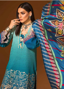 Ittehad Textiles Embroidered Khaddar Unstitched 3 Piece Suit ITD20PS 06 BERYL MIST - Winter Collection