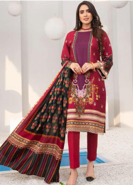Signature Prints by Ittehad Textiles Printed Cottel Unstitched 3 Piece Suit ITD20SP 12 Tangy Red - Winter Collection