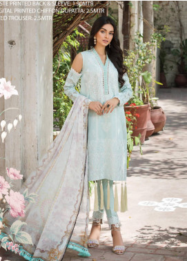 Ittehad Textiles Embroidered Lawn Unstitched 3 Piece Suit ITD20F 02 Jinan - Spring / Summer Collection