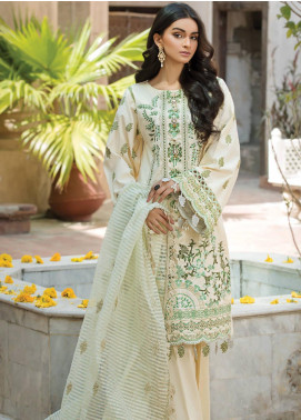 Ittehad Textiles Embroidered Cotton Satin Unstitched 3 Piece Suit ITD20F 05 Zuhur - Spring / Summer Collection