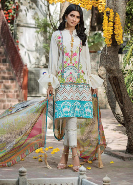 Ittehad Textiles Embroidered Lawn Unstitched 3 Piece Suit ITD20F 07 Nuray - Spring / Summer Collection