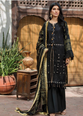 Ittehad Textiles Embroidered Lawn Unstitched 3 Piece Suit ITD20F 08 Zavia - Spring / Summer Collection