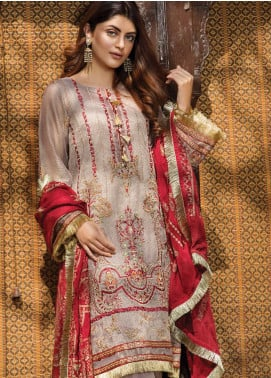Ittehad Textiles Embroidered Zari Net Unstitched 3 Piece Suit ITD20F 09 Nilufer - Spring / Summer Collection