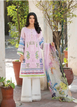 Ittehad Textiles Embroidered Lawn Unstitched 3 Piece Suit ITD20F 13 Aisley - Spring / Summer Collection