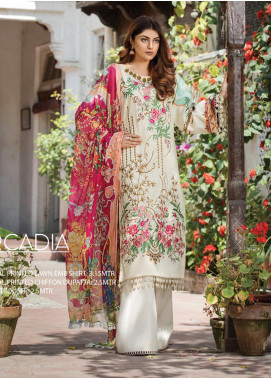 Ittehad Textiles Embroidered Lawn Unstitched 3 Piece Suit ITD20F 14 Arcadia - Spring / Summer Collection