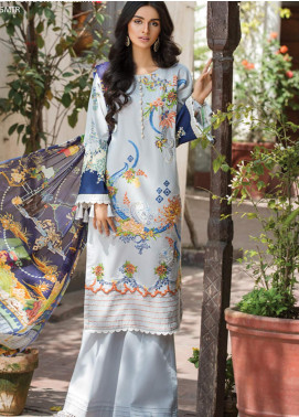 Ittehad Textiles Embroidered Lawn Unstitched 3 Piece Suit ITD20F 16 Cerise - Spring / Summer Collection