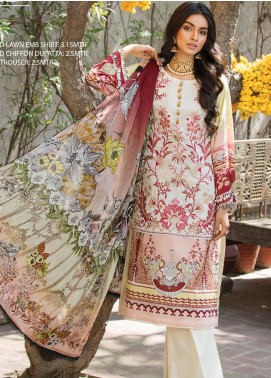 Ittehad Textiles Embroidered Lawn Unstitched 3 Piece Suit ITD20F 18 Bella - Spring / Summer Collection
