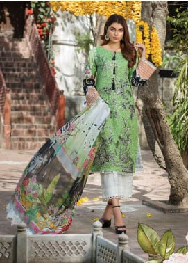 Ittehad Textiles Embroidered Lawn Unstitched 3 Piece Suit ITD20F 19 Buttercup - Spring / Summer Collection