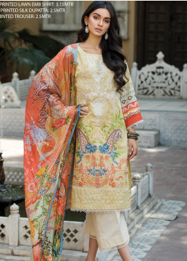 Ittehad Textiles Embroidered Lawn Unstitched 3 Piece Suit ITD20F 20 Iris - Spring / Summer Collection