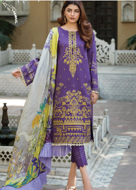 Ittehad Textiles Embroidered Lawn Unstitched 3 Piece Suit ITD20F 21 Columbine - Spring / Summer Collection