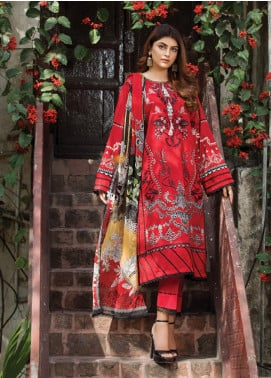 Ittehad Textiles Embroidered Lawn Unstitched 3 Piece Suit ITD20F 22 Lauren - Spring / Summer Collection