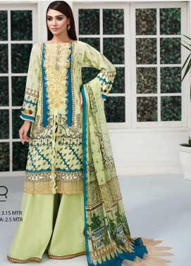 Ittehad Textiles Embroidered Lawn Unstitched 3 Piece Suit ITD20F 23 Jawahir - Spring / Summer Collection