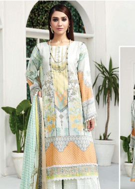 Ittehad Textiles Embroidered Lawn Unstitched 3 Piece Suit ITD20F 25 Nawfar - Spring / Summer Collection