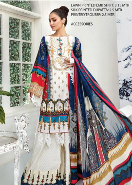 Ittehad Textiles Embroidered Lawn Unstitched 3 Piece Suit ITD20F 31 Nirjis - Spring / Summer Collection