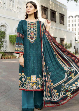 Ittehad Textiles Printed Khaddar Unstitched 3 Piece Suit ITD19GK 2605A - Winter Collection