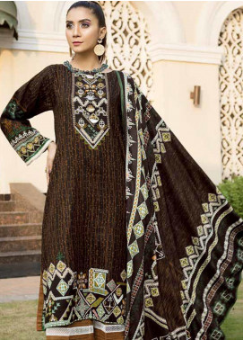 Ittehad Textiles Printed Khaddar Unstitched 3 Piece Suit ITD19GK 2605B - Winter Collection