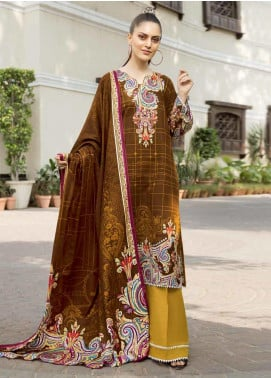 Ittehad Textiles Printed Khaddar Unstitched 3 Piece Suit ITD19GK 2608B - Winter Collection