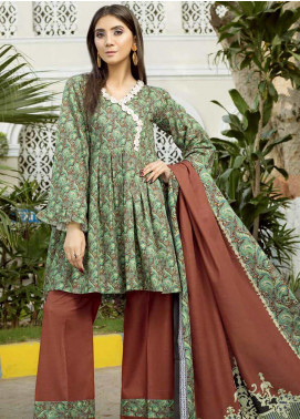 Ittehad Textiles Printed Khaddar Unstitched 3 Piece Suit ITD19GK 2613B - Winter Collection