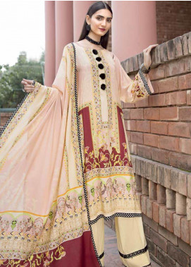 Ittehad Textiles Printed Linen Unstitched 3 Piece Suit ITD19GL 3011-A - Winter Collection