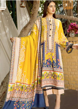 Ittehad Textiles Printed Linen Unstitched 3 Piece Suit ITD19GL 3011-B - Winter Collection