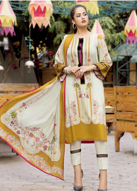 Ittehad Textiles Printed Linen Unstitched 3 Piece Suit ITD19GL 3012-B - Winter Collection