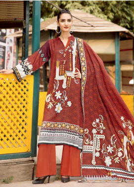 Ittehad Textiles Printed Linen Unstitched 3 Piece Suit ITD19GL 3014-A - Winter Collection