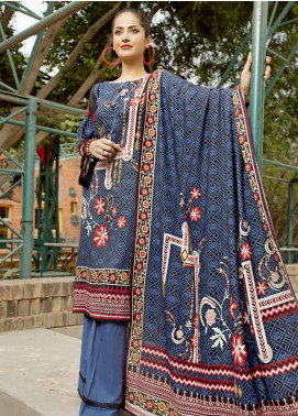 Ittehad Textiles Printed Linen Unstitched 3 Piece Suit ITD19GL 3014-B - Winter Collection