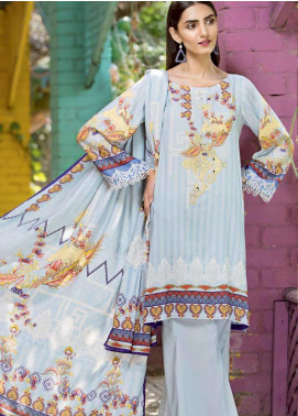 Ittehad Textiles Printed Linen Unstitched 3 Piece Suit ITD19GL 3015-A - Winter Collection