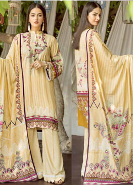 Ittehad Textiles Printed Linen Unstitched 3 Piece Suit ITD19GL 3015-B - Winter Collection