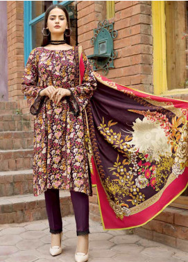 Ittehad Textiles Printed Linen Unstitched 3 Piece Suit ITD19GL 3018-B - Winter Collection