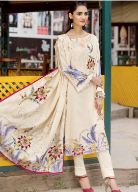 Ittehad Textiles Printed Linen Unstitched 3 Piece Suit ITD19GL 3019-A - Winter Collection