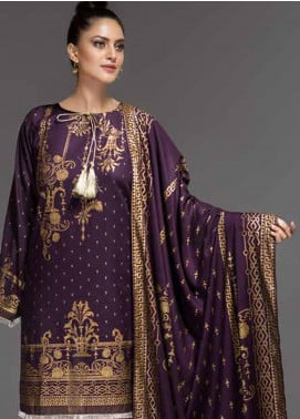 Ittehad Textiles Printed Linen Unstitched 3 Piece Suit ITD19-GL2 3021-A - Winter Collection