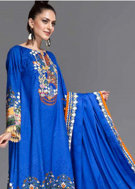 Ittehad Textiles Printed Linen Unstitched 3 Piece Suit ITD19-GL2 3022-A - Winter Collection
