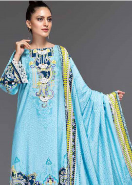Ittehad Textiles Printed Linen Unstitched 3 Piece Suit ITD19-GL2 3023-A - Winter Collection