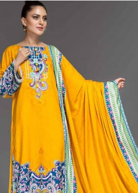 Ittehad Textiles Printed Linen Unstitched 3 Piece Suit ITD19-GL2 3023-B - Winter Collection
