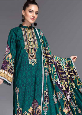 Ittehad Textiles Printed Linen Unstitched 3 Piece Suit ITD19-GL2 3025-A - Winter Collection