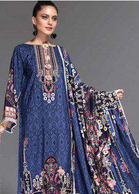 Ittehad Textiles Embroidered Linen Unstitched 3 Piece Suit ITD19-GL2 3025-B - Winter Collection