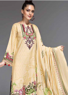 Ittehad Textiles Printed Linen Unstitched 3 Piece Suit ITD19-GL2 3026-A - Winter Collection
