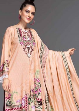 Ittehad Textiles Printed Linen Unstitched 3 Piece Suit ITD19-GL2 3026-B - Winter Collection