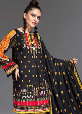 Ittehad Textiles Embroidered Linen Unstitched 3 Piece Suit ITD19-GL2 3027-A - Winter Collection