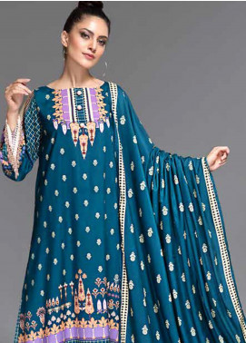 Ittehad Textiles Printed Linen Unstitched 3 Piece Suit ITD19-GL2 3027-B - Winter Collection