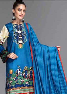 Ittehad Textiles Printed Linen Unstitched 3 Piece Suit ITD19-GL2 3028-A - Winter Collection