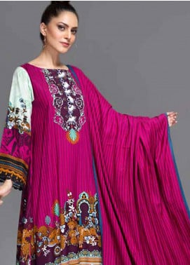 Ittehad Textiles Printed Linen Unstitched 3 Piece Suit ITD19-GL2 3028-B - Winter Collection