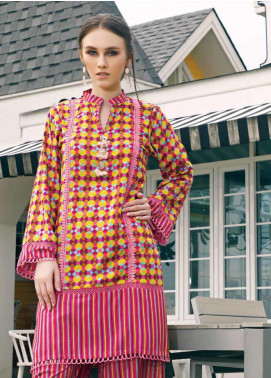 Ittehad Textiles Printed Linen Unstitched 2 Piece Suit ITD19HL 08A - Winter Collection