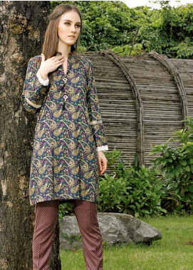 Ittehad Textiles Printed Linen Unstitched 2 Piece Suit ITD19HL 10A - Winter Collection